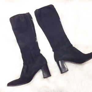 Sergio Rossi Knee High Boots Size 7 RARE